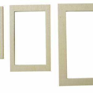 3 cadres photos magnétiques gigognes - Style classique