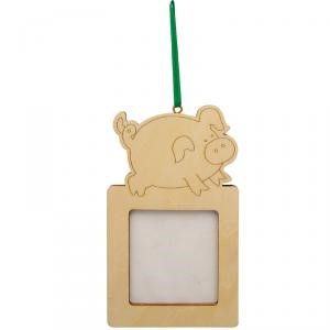 Cadre et magnet 10,5 x 6,5 cm - Cochon