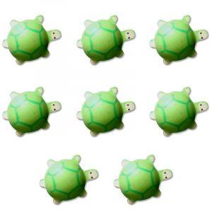 Lot de 8 tortues en bois peint