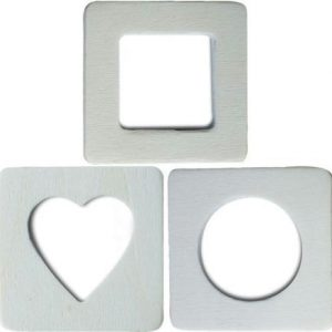 Lot de 3 mini cadres photos magnétiques - Bois clair