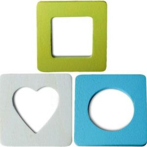 Lot de 3 mini cadres photos magnétiques - Printemps