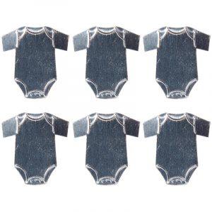 Décor métal adhésif Body x 6
