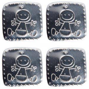 Décor en métal adhésif - Bébé x 4