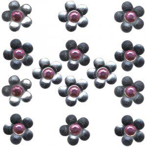 Décor en métal adhésif - Fleur x 14