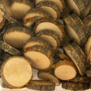 Rondelles en bois brut - 180 g