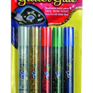Crayons de colle pailletée - Couleurs vives