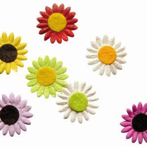 Marguerites en papier - Coloris assortis x 35