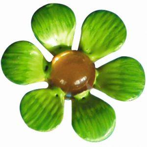 Décor en métal adhésif - Fleur verte x 5