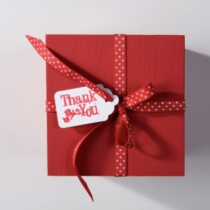 Emballage cadeau rouge