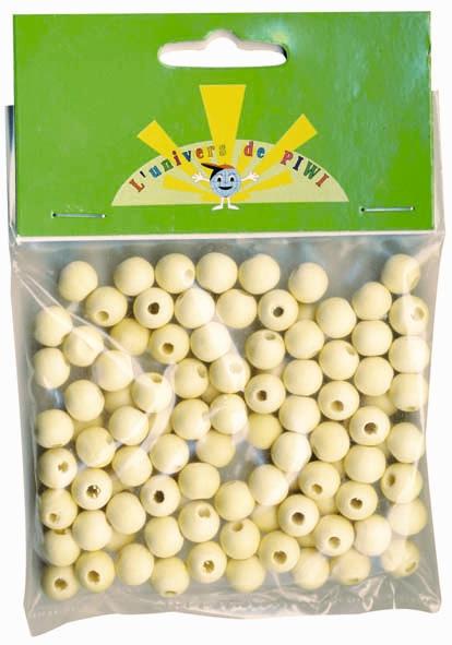 Perles en bois brut - 5 mm x 250