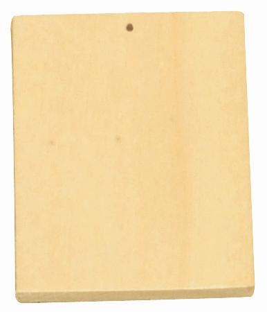 Assortiment 10 porte-clefs à décorer en bois