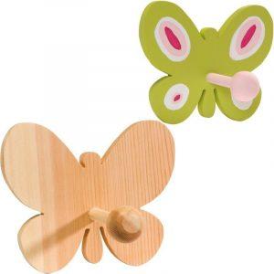 Patère en bois - Papillon