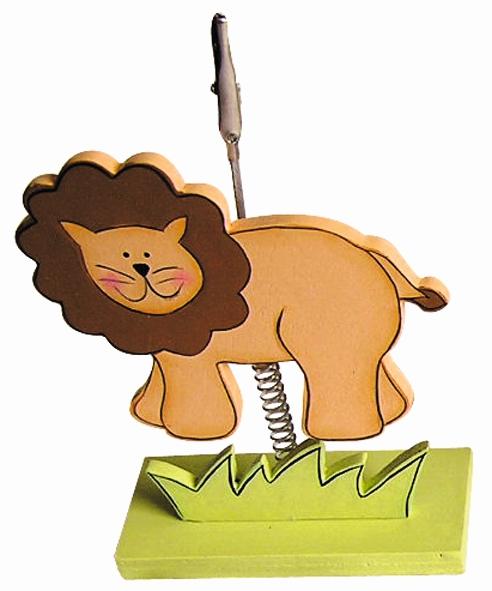 Clip photo en bois 16 cm – Lion