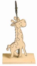Clip photo en bois 16 cm – Girafe