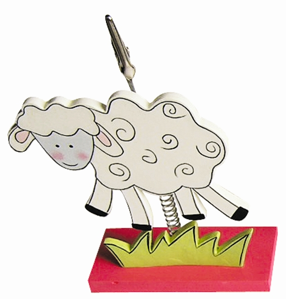 Clip photo en bois 16 cm - Mouton