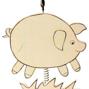 Clip photo en bois 16 cm – Cochon
