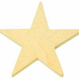Lot de 11 étoiles en bois
