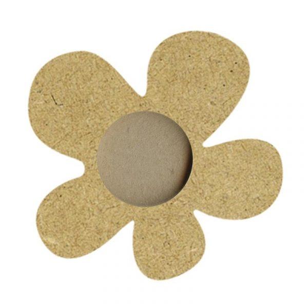 Porte-bougie chauffe-plat en bois - Fleur