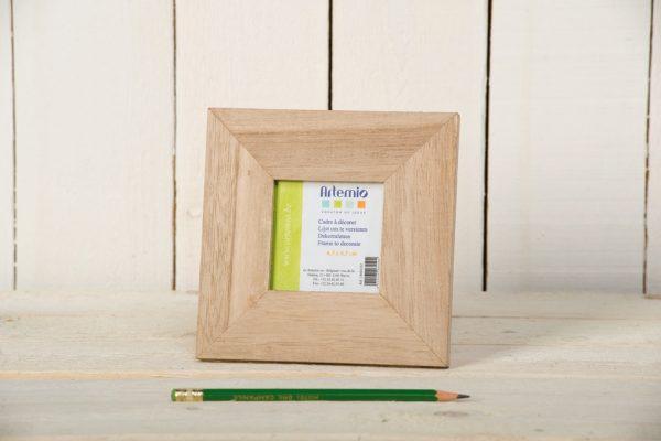 Cadre en bois Carré 14,5 x 14,5 cm