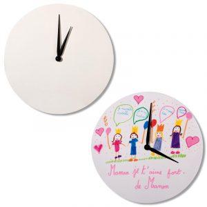 Horloge en bois ronde à décorer - 30 cm