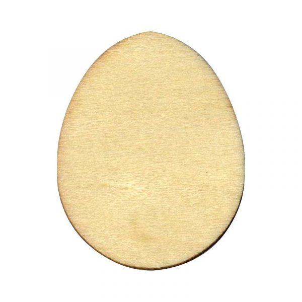 Silhouette en bois - Œuf de Pâques 10 cm x 3