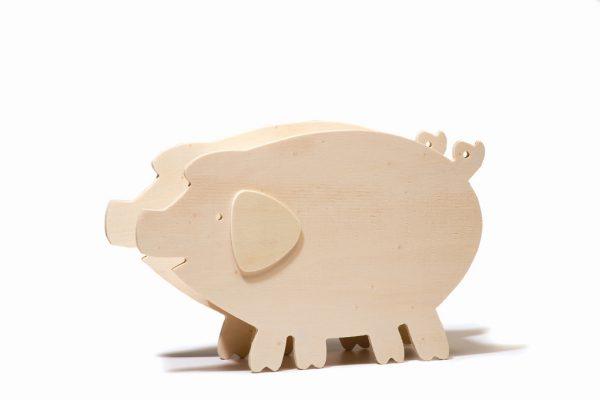 Tirelire en bois - Cochon
