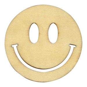 Silhouettes en bois - Smiley 10 cm x 3
