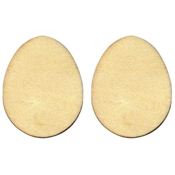 Silhouette en bois - Mini œuf de Pâques 2 cm x 18