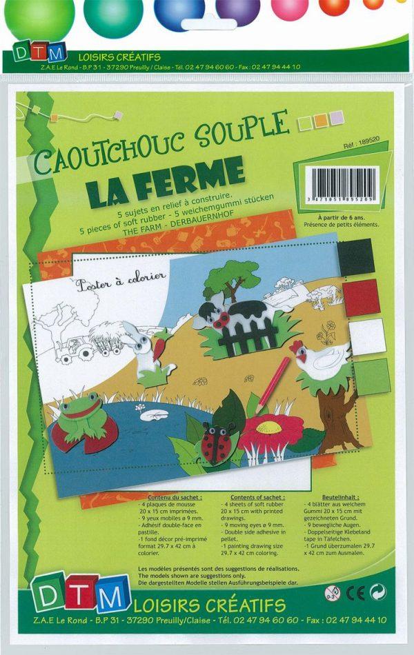 Tableau en relief caoutchouc souple - La ferme