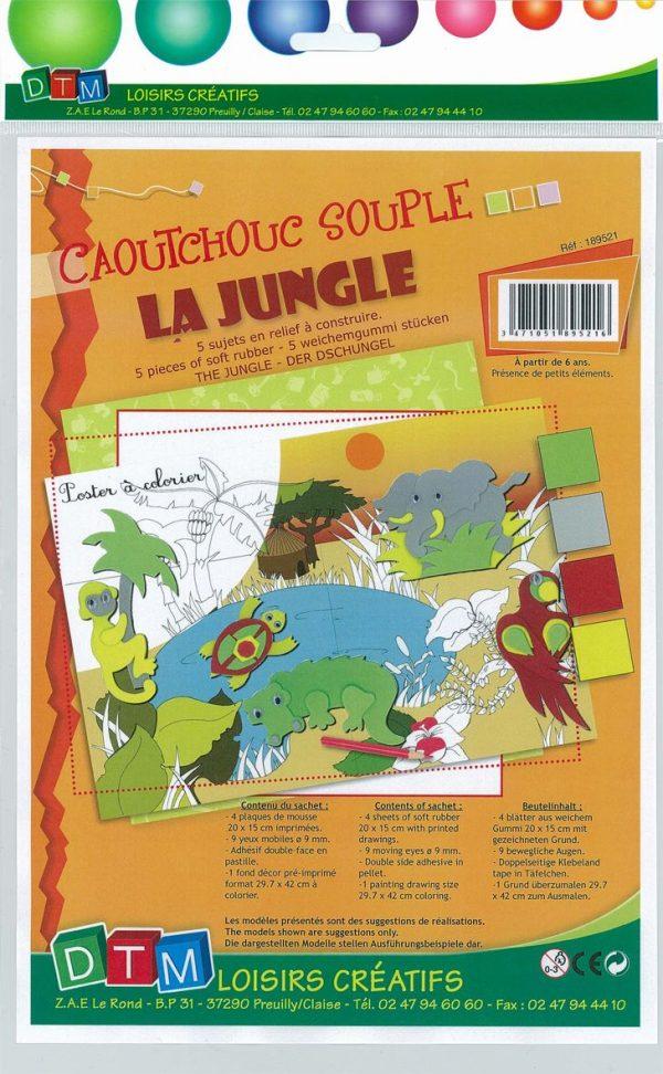 Tableau en relief caoutchouc souple - La jungle