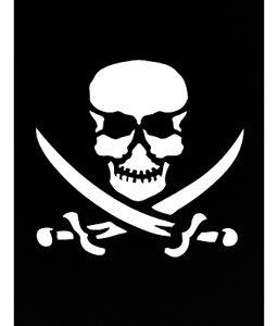 Pochoir tatouage adhésif - Pirate 7 x 10 cm