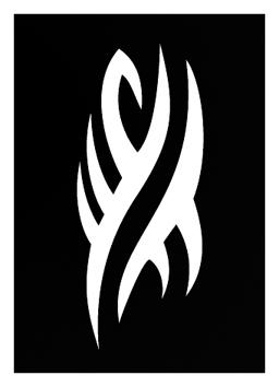 Pochoir pour tatouage adhésif - Tribal vague 7 x 10 cm