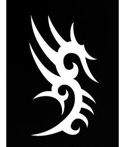 Pochoir pour tatouage adhésif - Tribal arabesques 7 x 10 cm