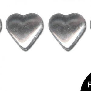 Strass thermocollant en métal - Cœur Cristal x 24