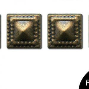Strass thermocollant en métal - Carré Bronze antique x 28