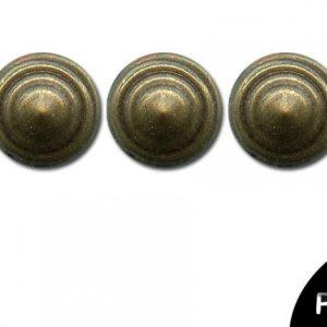Strass thermocollant en métal - Cercle Bronze antique x 48