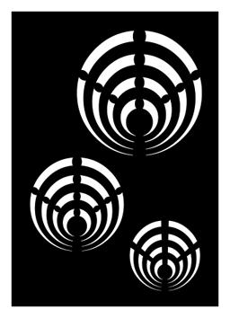 Pochoir pour tatouage adhésif - Psychée cercles 7 x 10 cm
