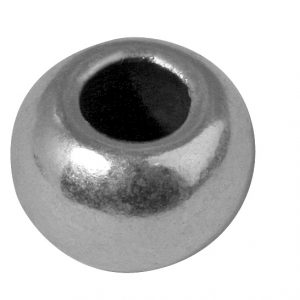 Perle ronde en métal - 6 mm