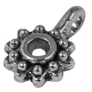 Pendentif breloque Roue en métal - 12 mm