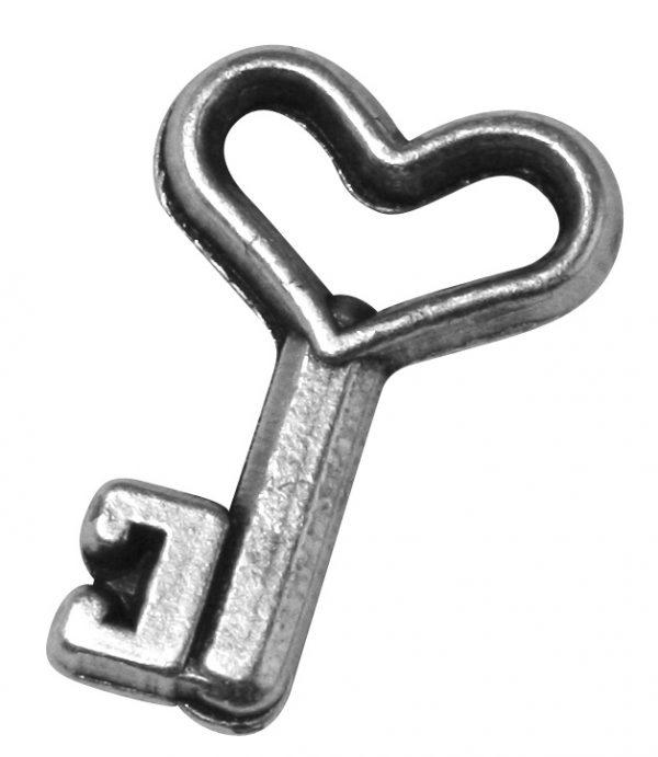 Pendentif breloque Clé en métal - 13 mm