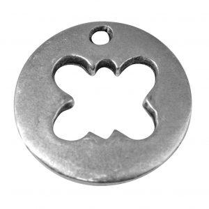 Pendentif breloque Papillon évidé en métal - 19 mm