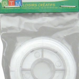 Fil élastique transparent - 0,5 mm x 5 m