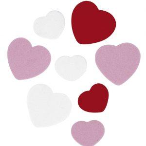 Cœurs tendresse en carton mousse x 100