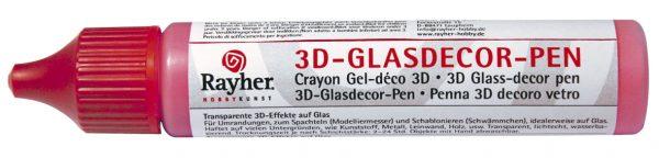 Crayon gel déco 3D pour le verre - 30 ml