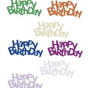 Confettis de table - Naissance « Happy birthday »