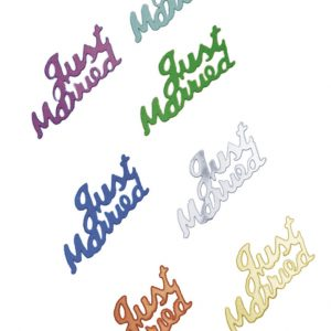 Confettis de table – Mariage « Just married »