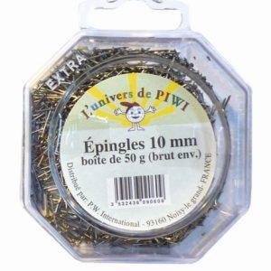 Epingles argentées pour sequins - 10 mm x 50 g