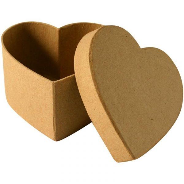 Boîte en carton Cœur - 10,5 cm