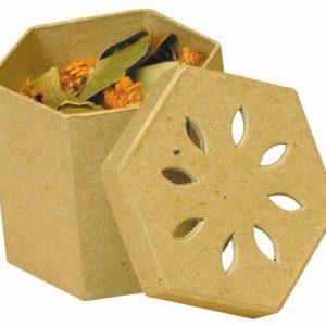 Pot pourri hexagonal en carton - 7,8 cm