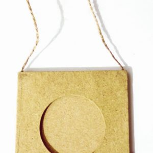Mini cadre en papier mâché 8 cm - Rond